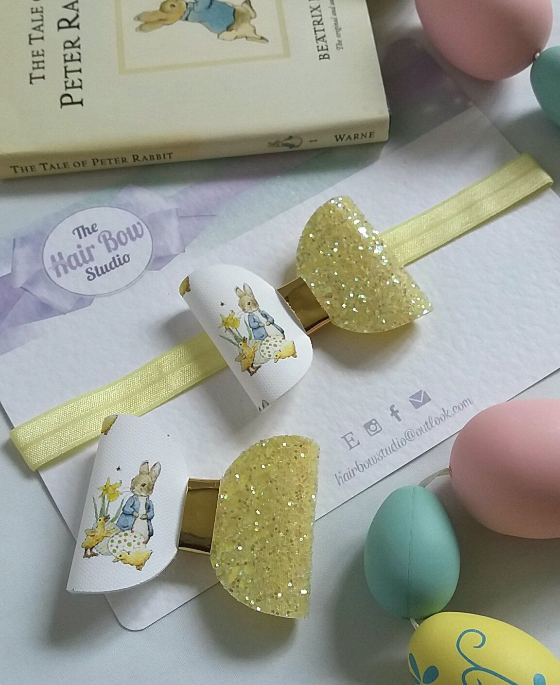 Peter rabbit beatrix potter easter hair bow baby headbandspring peter rabbit beatrix potter easter hair bow baby headbandspring easter gift negle Gallery