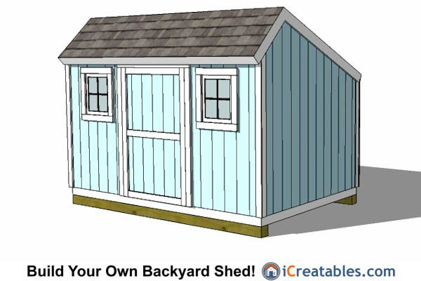 8x12 Salt Box Shed Plans With Windows 8x12 Shed Plans In