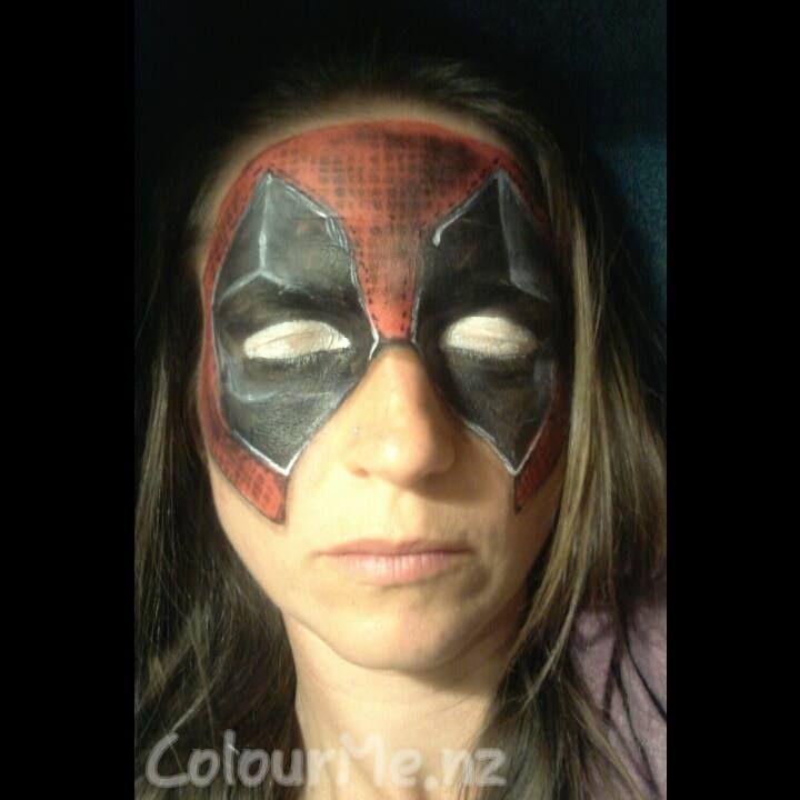 Deadpool inspirationtopaint colourmenz facepainting by