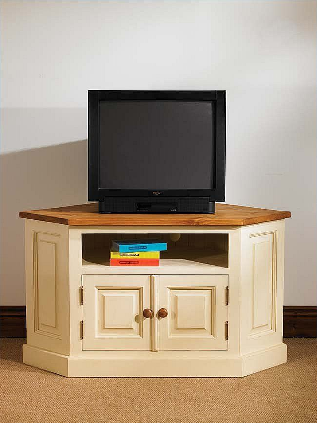 Tv Hall Cabinet Living Room Furniture Designs Wooden Tv: Mottisfont Painted Corner TV Unit With 2 Doors