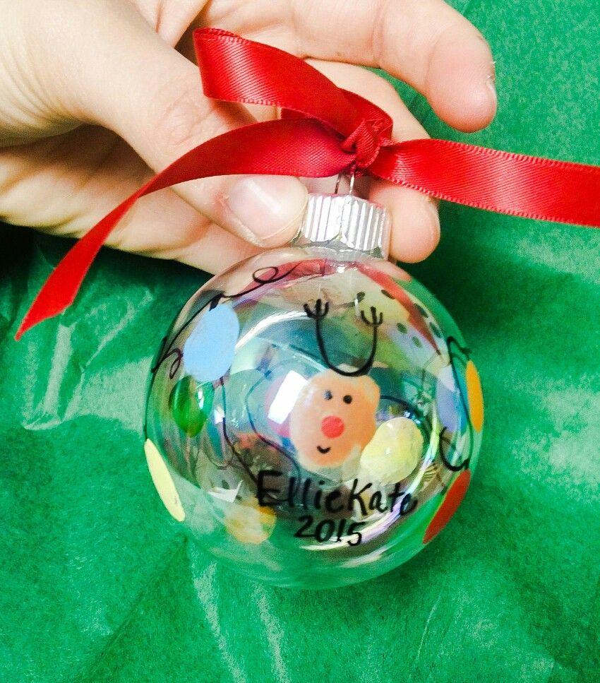 Christmas Reindeer Fingerprint Ornament Christmas Bulbs Fingerprints Ornaments Christmas Ornaments
