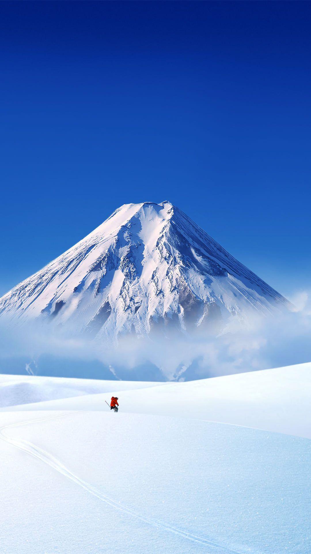 雪山とゲレンデ Iphone6 Plus壁紙 風景の壁紙 雪山 美しい風景写真