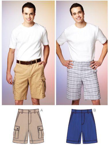 Kwik Sew 3884 Men\'s Shorts | Nähen für männer, für Männer und Männer