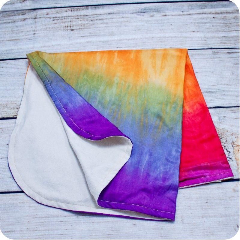 Organic Cotton Flannel & Rainbow Silk Baby Blanket
