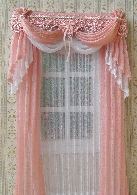 Exceptional Miniature 1:12 Dollhouse Curtains To Order