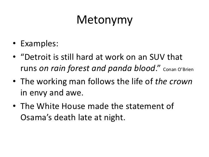 Metonymy Examples  Literary Devices