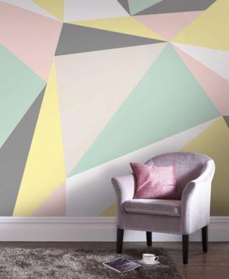 Graham & Brown Pastel Geometric Wall Mural Wallpaper | macys.com