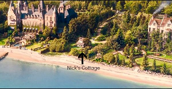 Long Island West Egg Gatsby S House And Nick Cottage Marked