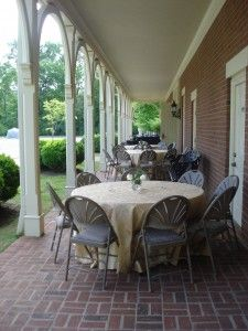 The verandah of Maney Hall is a lovely location for an outdoor cocktail reception!