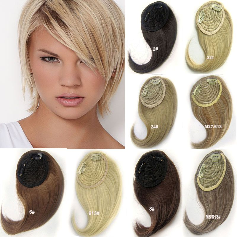 2pcslot 30g Synthetic Clip In Hair Bangs Front Side Fringe Hair
