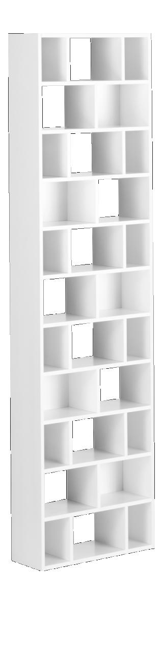 CLEO Étagères et bibliothèques Blanc Bois Laqué | Meubles ...