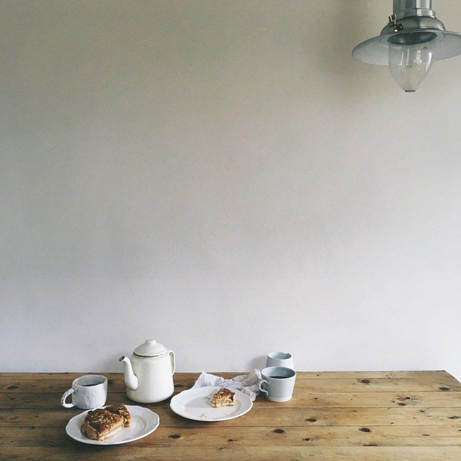 quiet moment, tea and cake