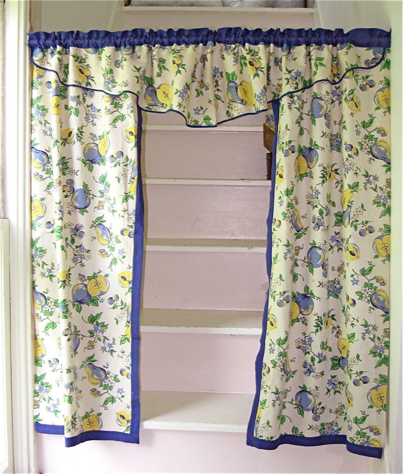 1940s 1950s Kitchen Curtains