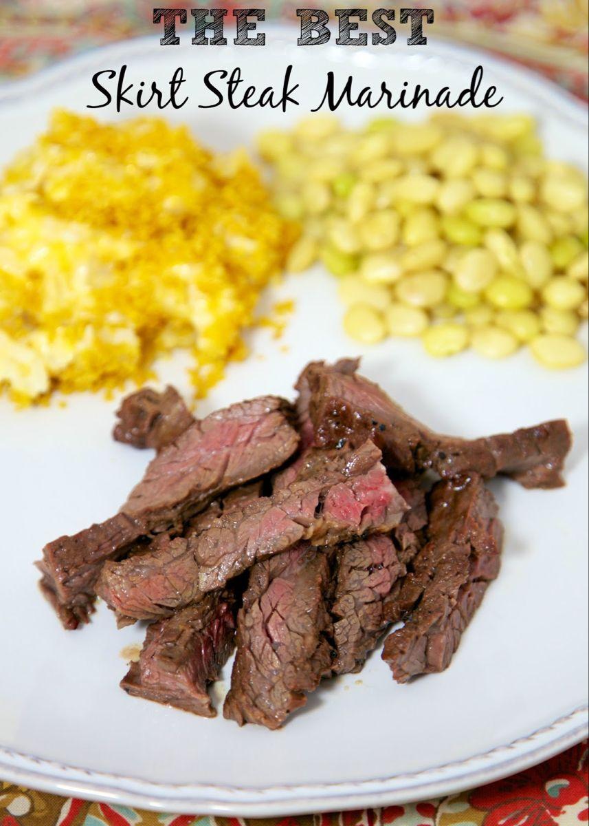 The Best Skirt Steak Marinade #grilledsteakmarinades