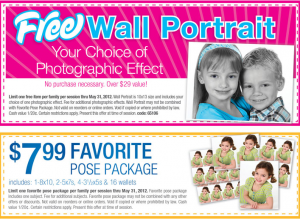 FREE Wall Portrait from WalMart at Picture Me Studio