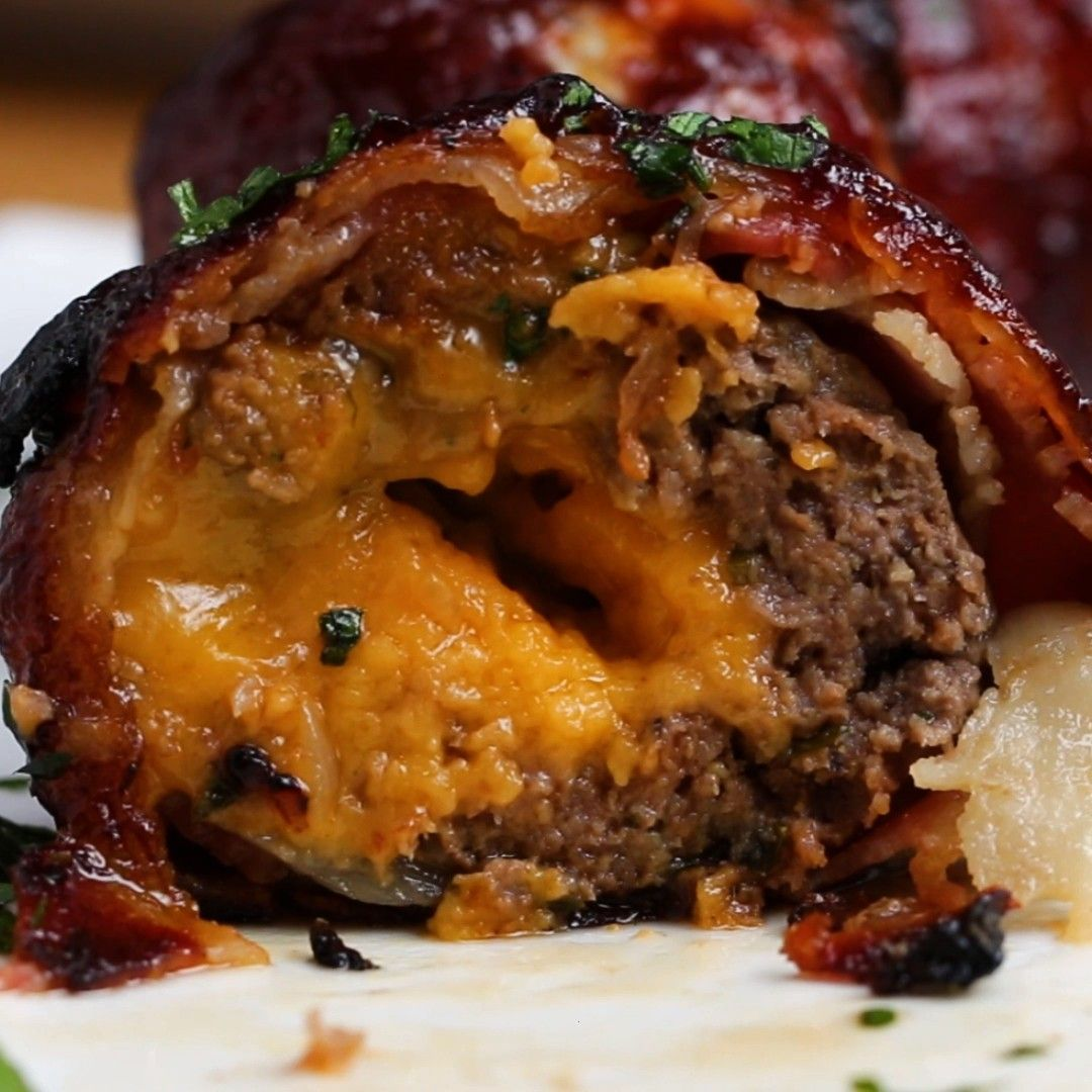 Bacon Meatballs -  Try this one Bacon meatballs in onion jacket  -BBQ Bacon Meatballs -  Try this o
