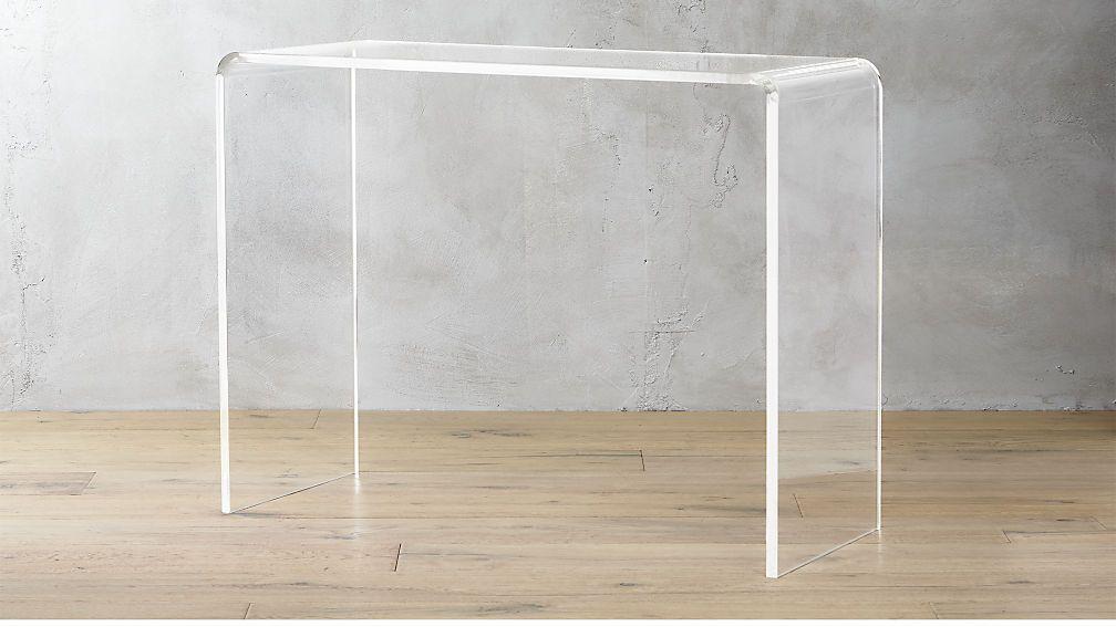 Peekaboo 38 Acrylic Console Table Reviews Glass Entryway Table Console Table Acrylic Table