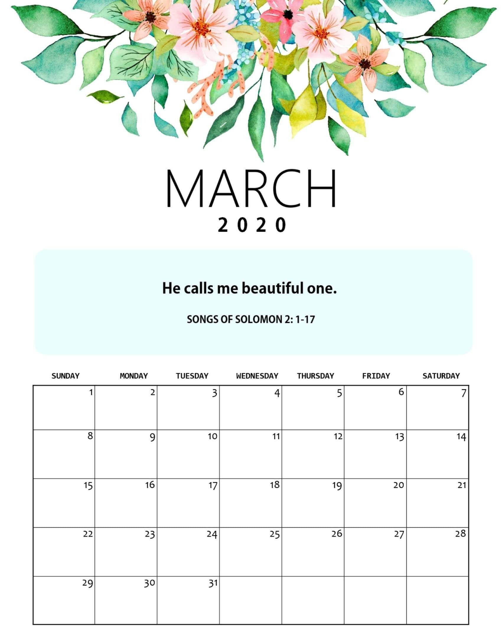 Cute March 2020 Calendar Archives - 2019 Calendars for ...
