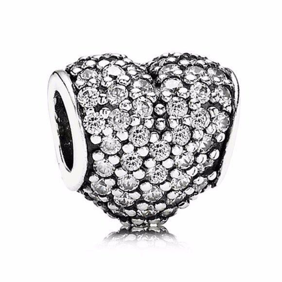 Who Sells Pandora Jewelry: Gorgeous Preloved Condition Pandora Clear Pavé Heart Charm