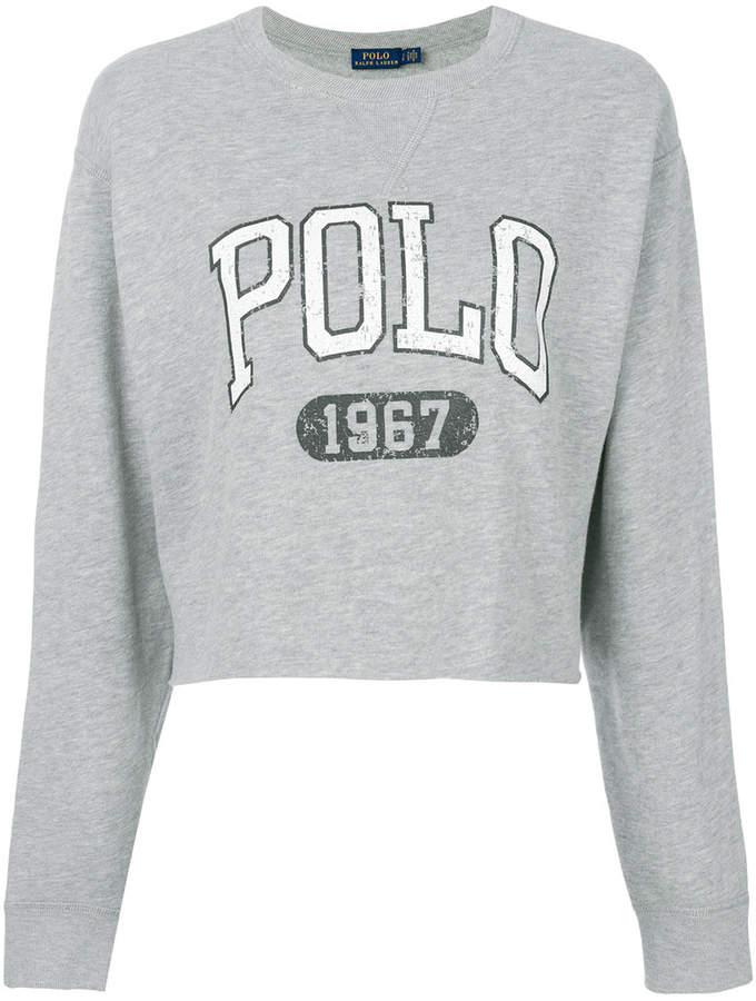 808bb0c3 Polo Ralph Lauren cropped logo sweatshirt | Products | Polo ralph ...