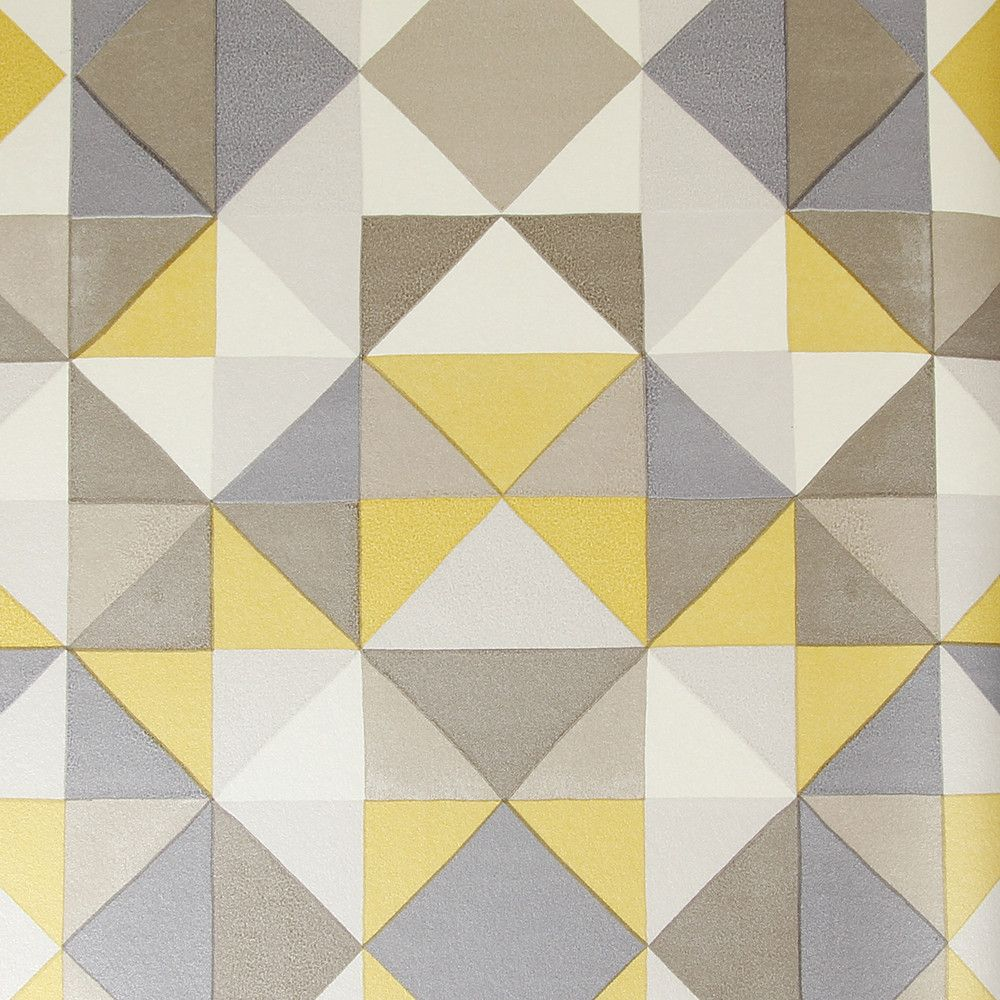 Create a striking feature wall with this Bold Cubism wallpaper from ...