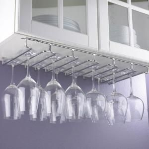 Under Cabinet Modern Metal Wine Glass Cup Holder for Home Bar Stemware Wine Glass Hanger Rack