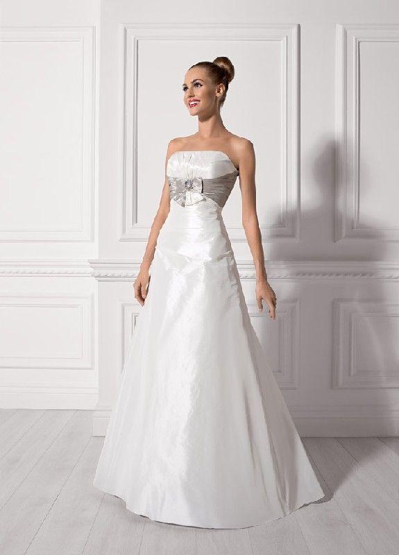 Trägerlos A Line Taft Hochzeitskleider EHS91306025 | Brautkleider ...