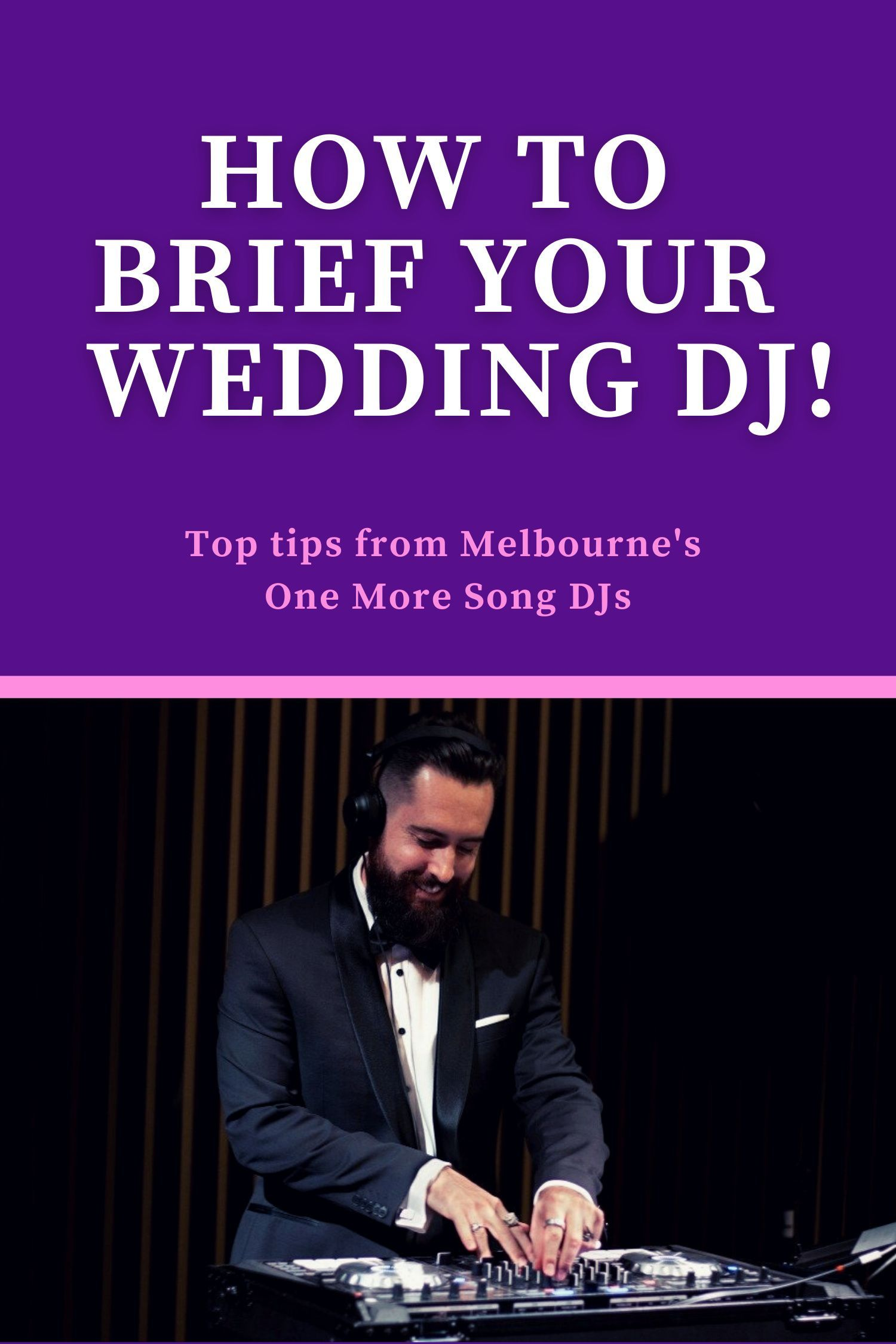 Trying to plan your the music for your wedding reception? Melbourne DJs One More Song discuss the best way to choose your music and work with your DJ to create the perfect vibe for your big day! #weddingsongs #weddingmusic #weddingtips #weddingplaylist #weddingdj Photo credit: Gold Flamingo Photography.
