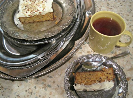 Low carb carrot cake and coffee time