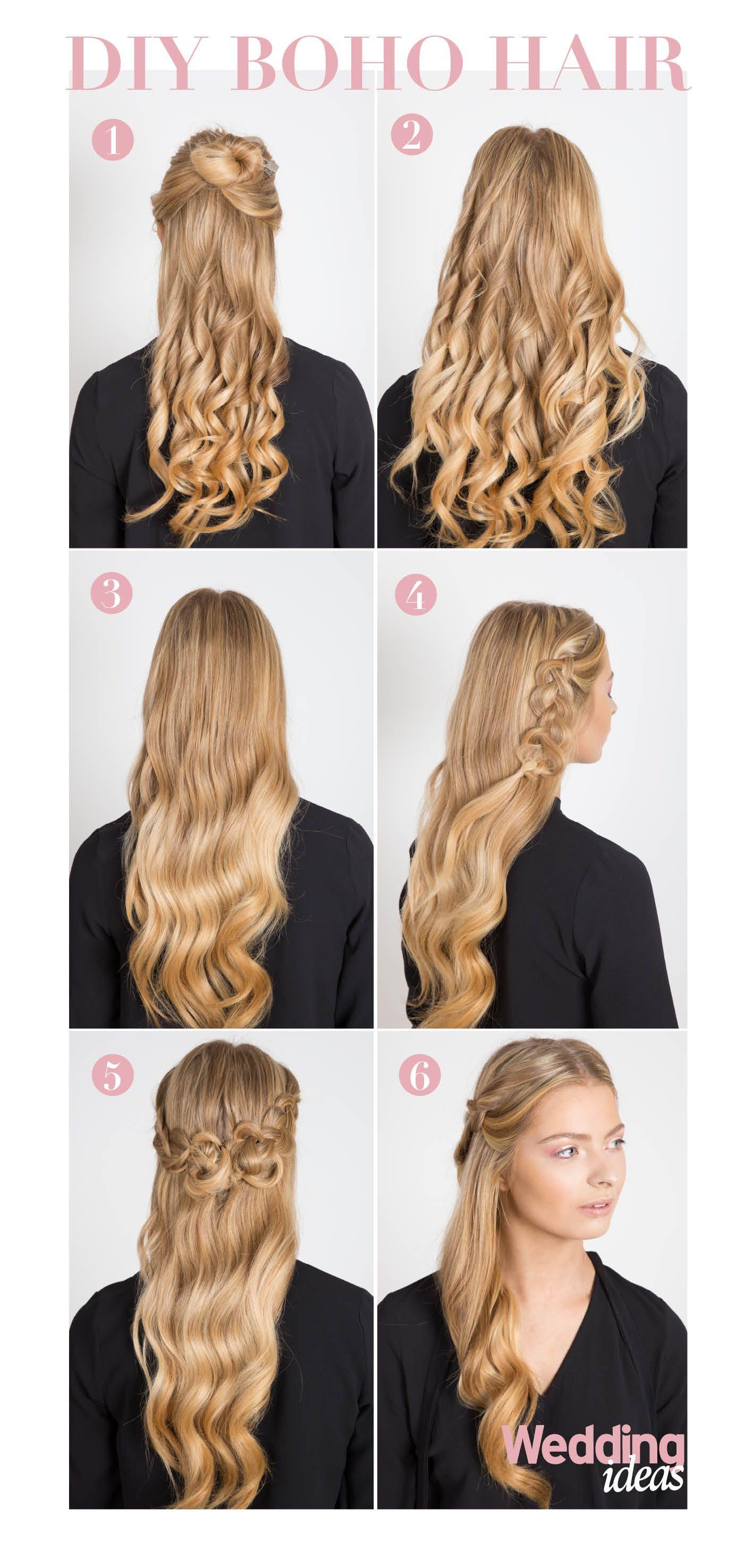 Diy Boho Hair Wedding Ideas Magazine Hair Styles Wedding Hairstyles Glamorous Wedding Hair