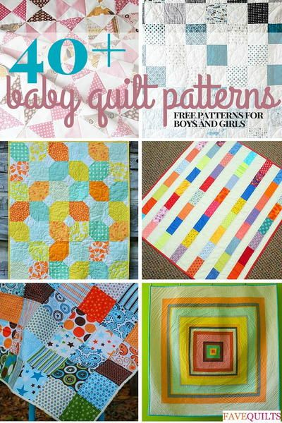40 Free Baby Quilt Patterns Baby Quilt Patterns Pinterest