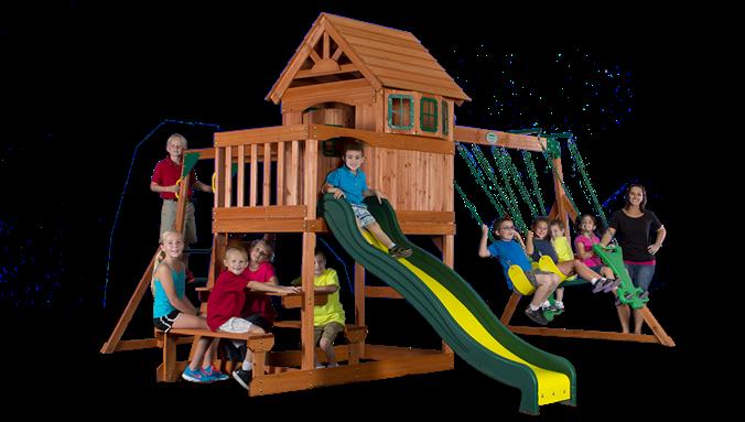 Springboro Wooden Swing Set | Cedar swing sets, Wooden ...