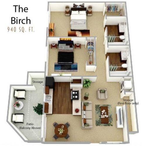 Waterleaf Apartments, Vista, 2 Bed, 2 Bath - $1470-$1715