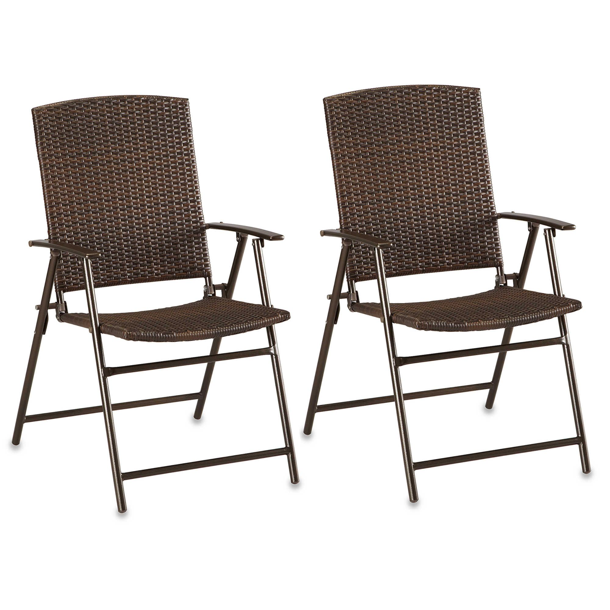 Barrington Wicker Bistro Folding Chairs In Brown Set Of 2 400 x 300