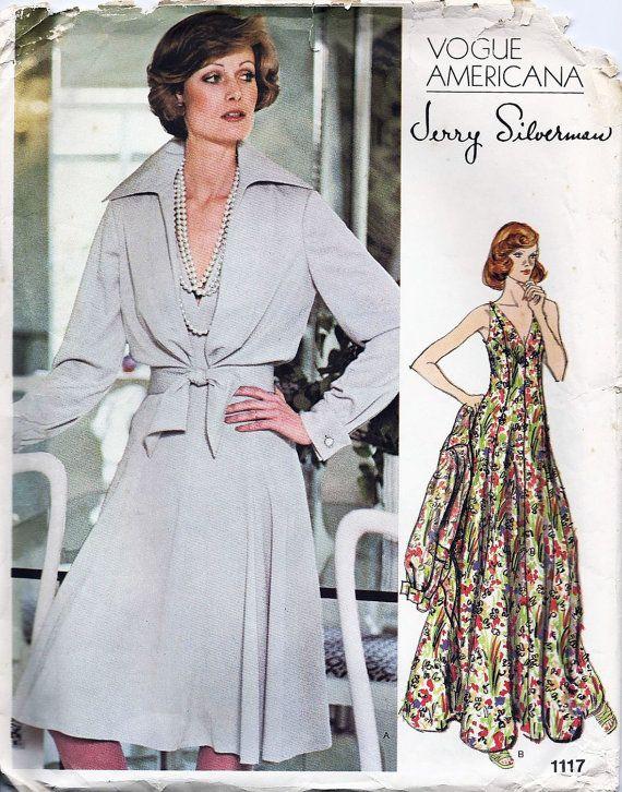 Vintage Vogue Pattern 1117, Jerry Silverman Vogue Americana Designer ...