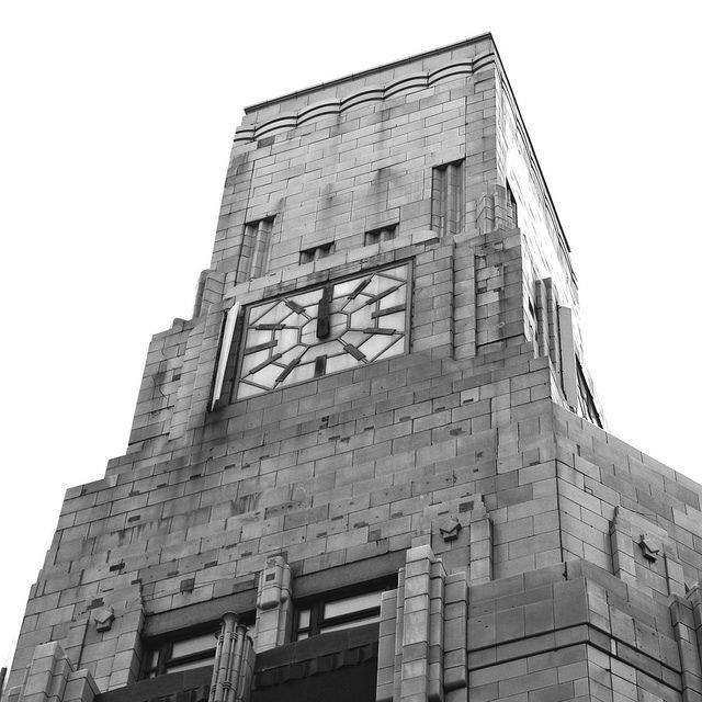 Art Deco Clock Tower in Blackpool