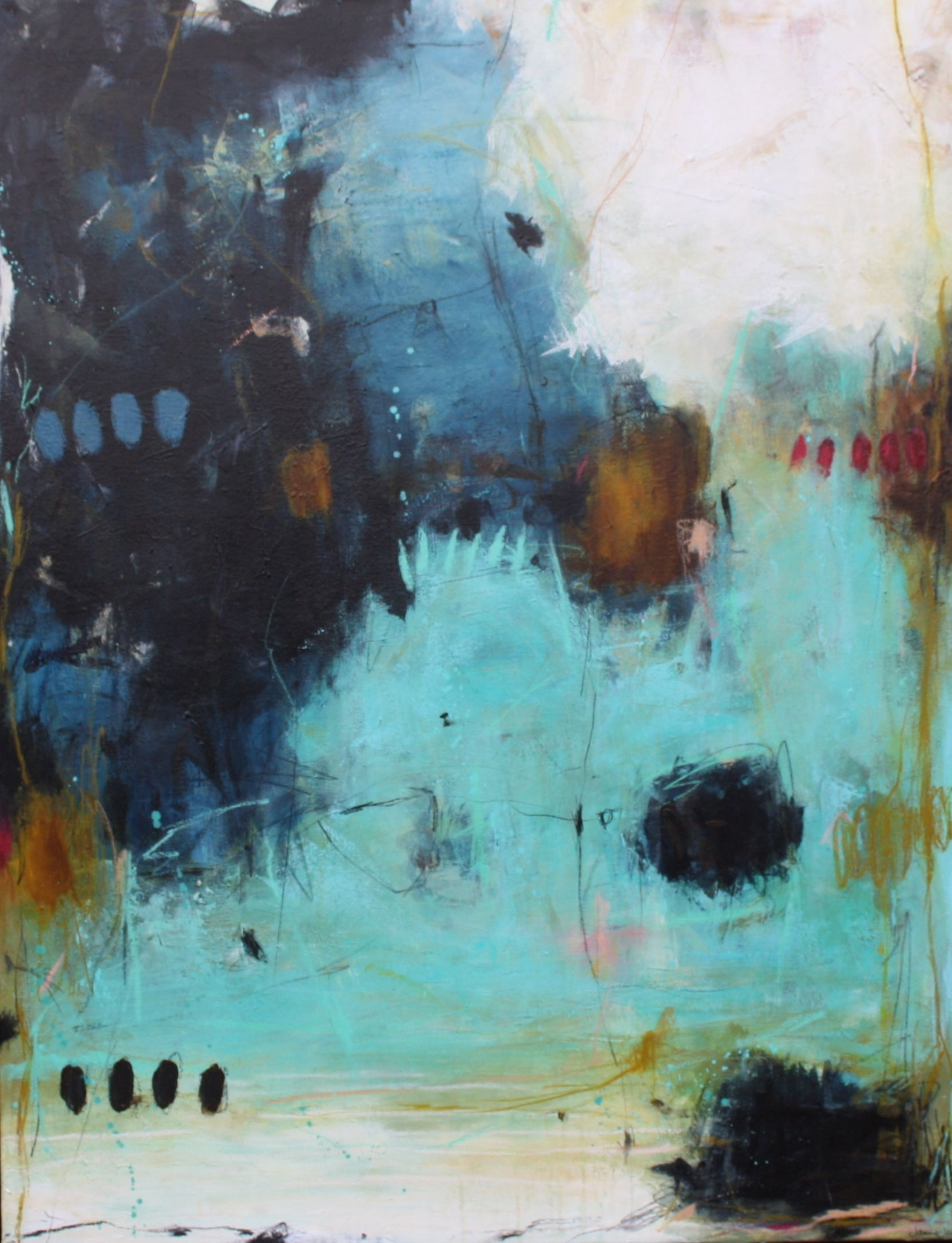 Pin Af Molly Happe Pa Abstract Landscapes I 2019 Malerier Abstrakte Malerier Og Kunst