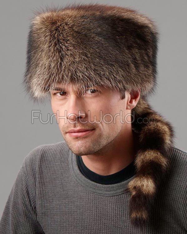 559ec37e Coonskin Cap - Raccoon Fur. Coonskin Cap - Raccoon Fur Winter Hats For Men  ...