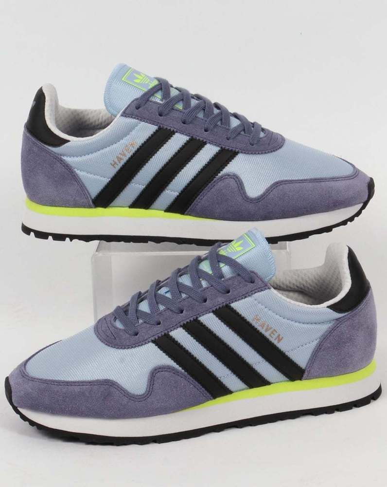 0463d91ad4f7 Adidas Originals - Adidas Haven Trainers in Soft Blue-Grey   Black ...
