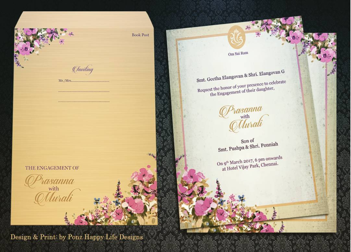 indian wedding invitation mumbai%0A Bright flowers on a subtle background is a perfect recipe for a vintage  appeal  classy  invitation  desi  floral  invitation  wedding  vintage   colorful