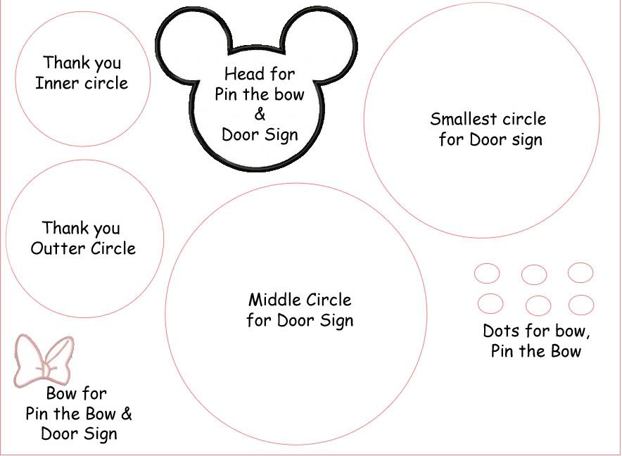 Minnie Mouse Birthday Party by | Face template, Minnie mouse and Mice