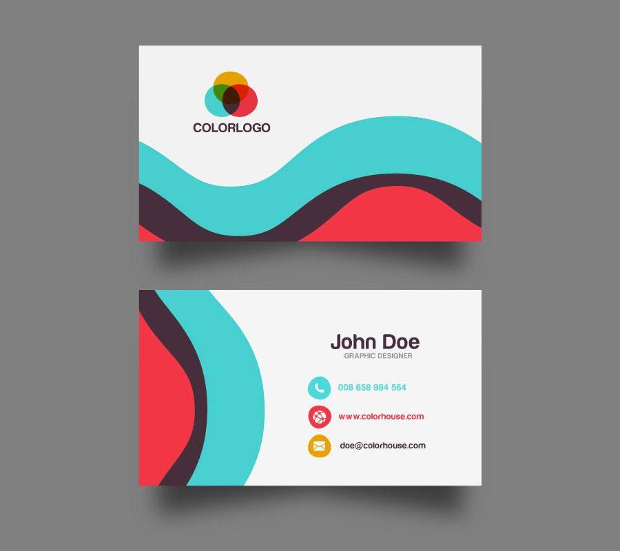 Flat Business Card Template | Pinterest | Card templates, Business ...