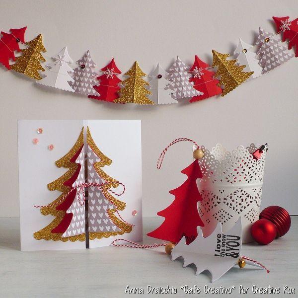 Lavoretti Di Natale 3d.Risultati Immagini Per Sizzix Fustelle Alberi Di Natale 3d
