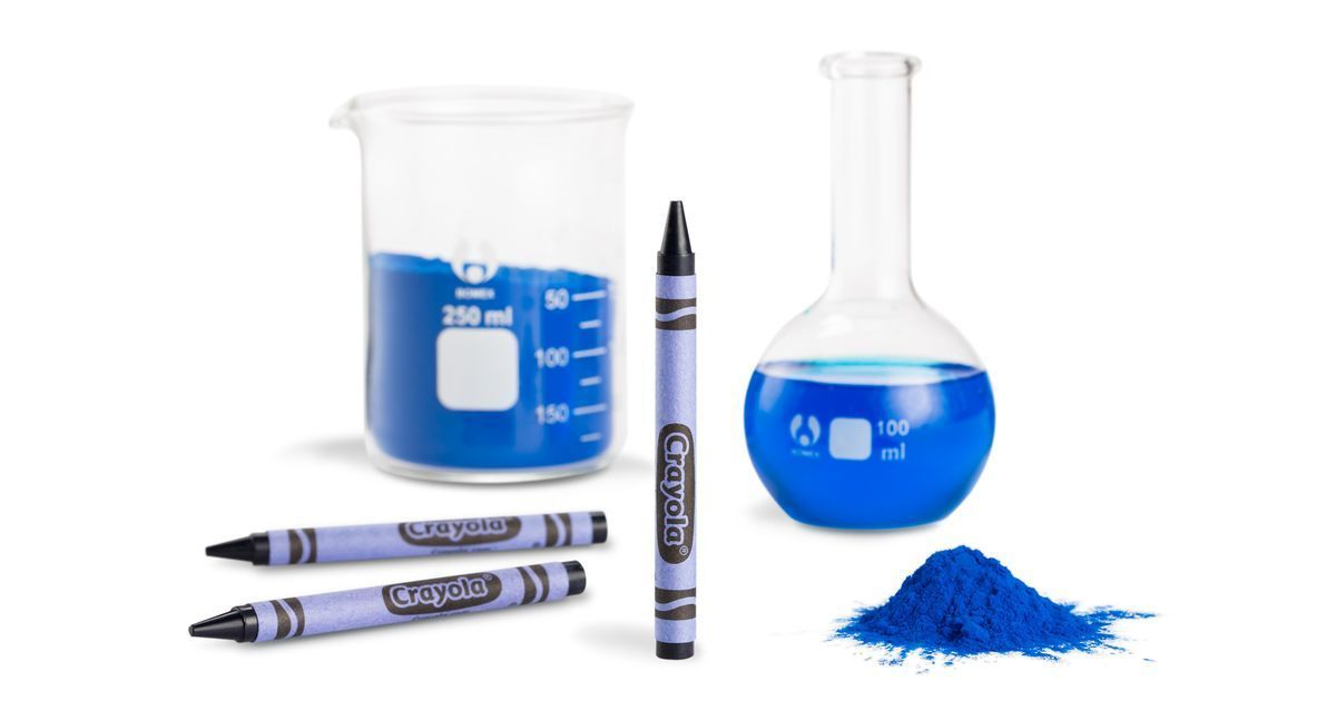 All The Colours Of The Dark Federale Crayola S Newest Crayon Color Is A Shade Of Blue That Was Just Discovered Crayola Crayon Colors Blue Crayon Blue Pigment