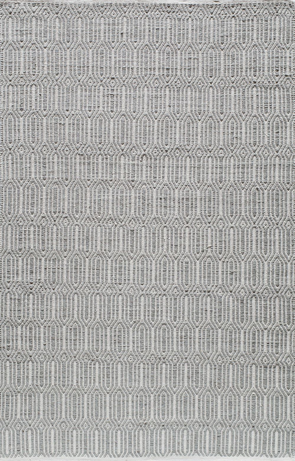 Hand-Woven Silver Area Rug
