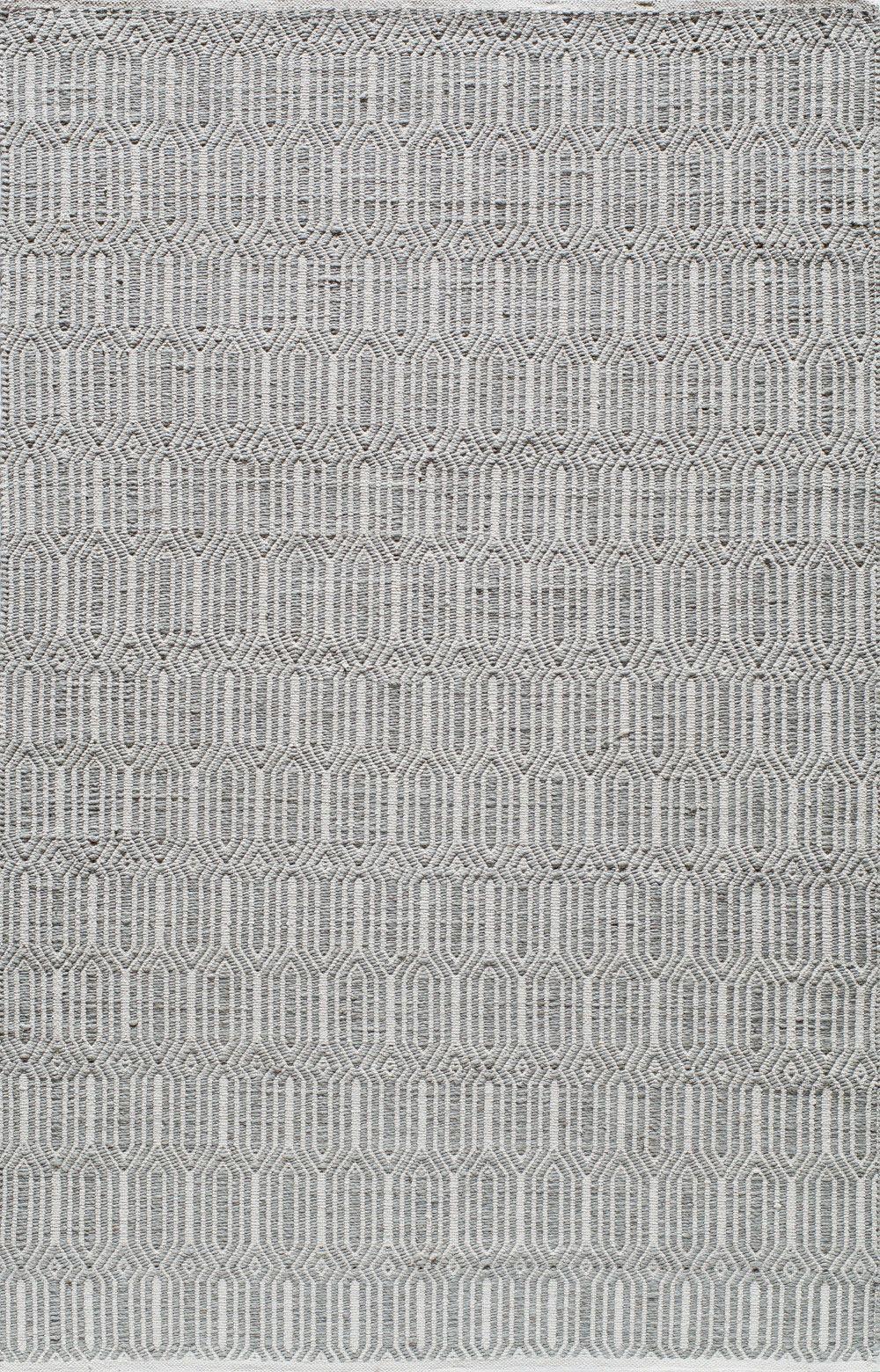 Hand-Woven Silver Area Rug