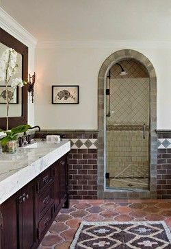 Orange Drive mediterranean-bathroom