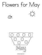 may coloring pages for preschoolers - photo#15
