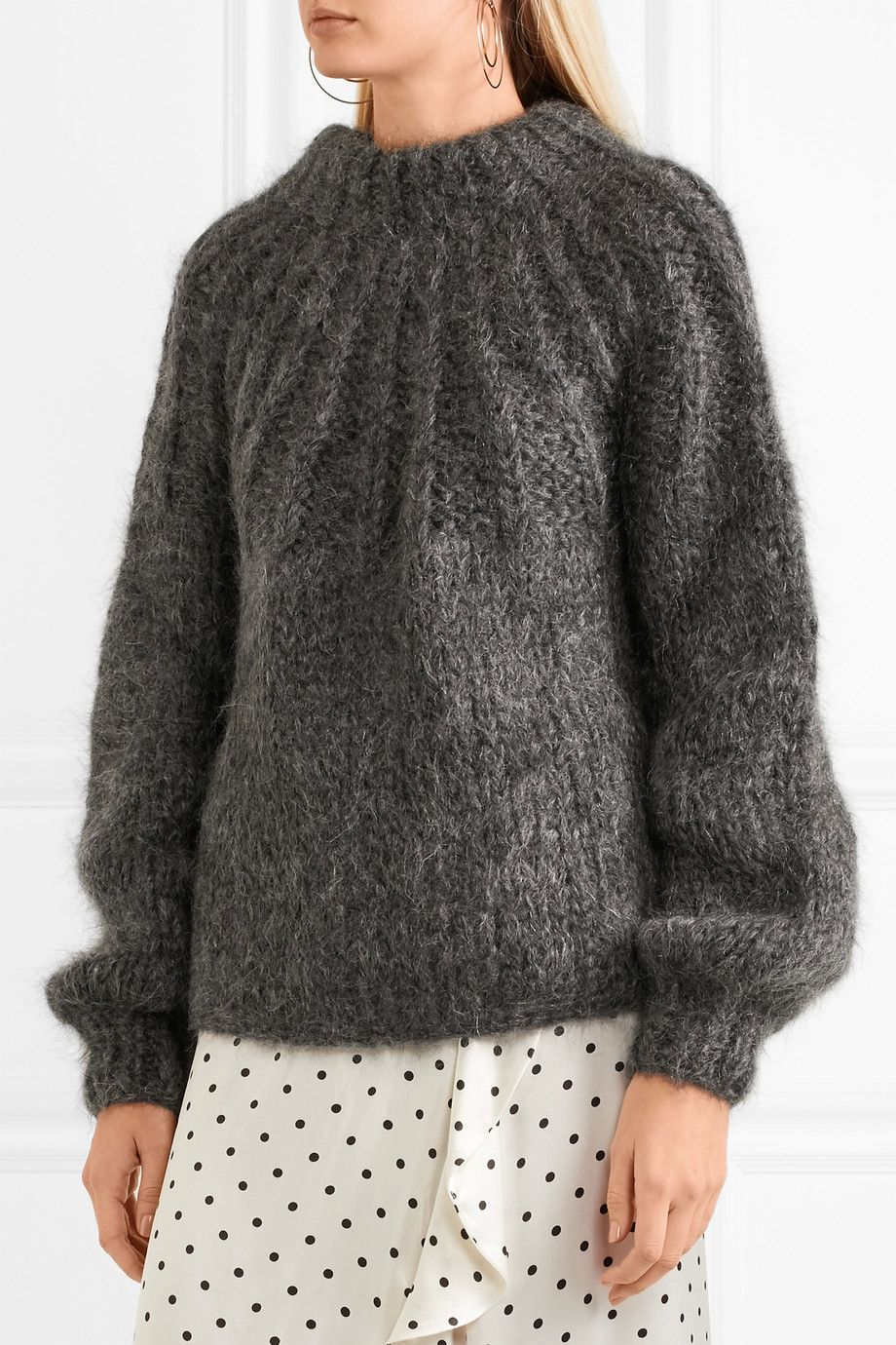 GANNI - Julliard open-back mohair and wool-blend sweater