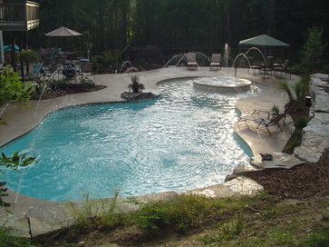 Inground Gunite Pools | Inground Swimming Pool Deck around Gunite ...